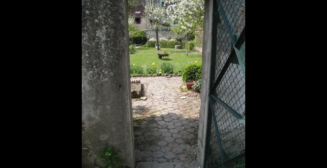 The garden door, historic Barat family home, Joigny, France