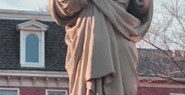 Sacred Heart Statue in front of the Academy of the Sacred Heart, St. Charles