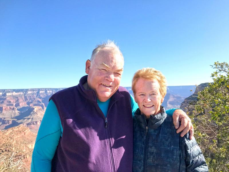 John and Cathie Kinabrew at the Grand Canyon. John is also an Associate and a Co-Coordinator of the New Orleans Associates group.