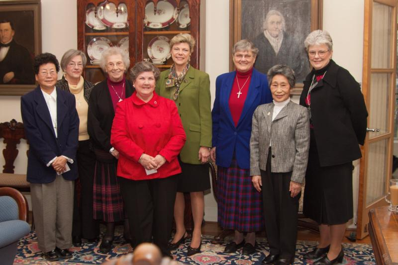 Cokie Roberts at Academy of the Sacred Heart in Bloomfield Hills, Michigan