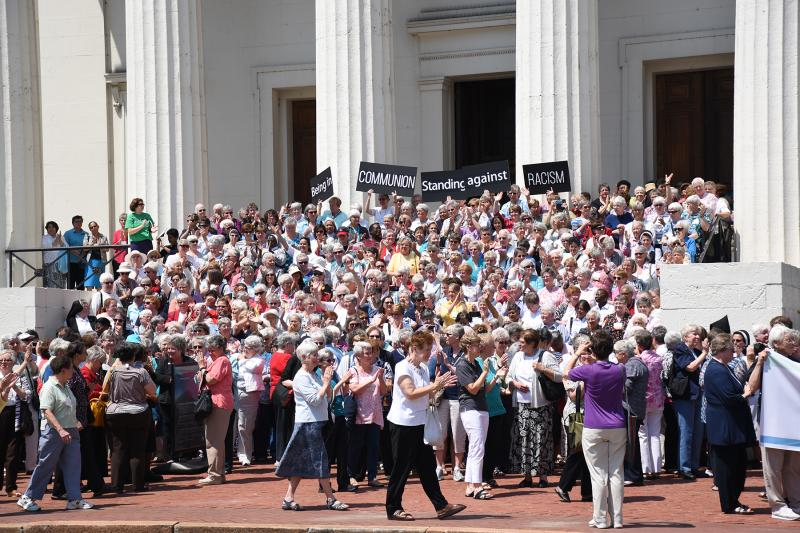 August 10, Being in Communion: Standing Against Racism Demonstration at the Old Courthouse in St. Louis, Missouri