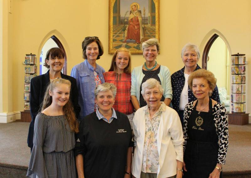 Cokie Roberts at Academy of the Sacred Heart in St. Charles, Missouri, in July 2018, before her presentation about St. Rose Philippine Duchesne in collaboration at the Missouri History Museum