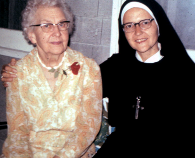 Anita von Wellsheim, RSCJ with her mother, Maria Lux von Wellsheim