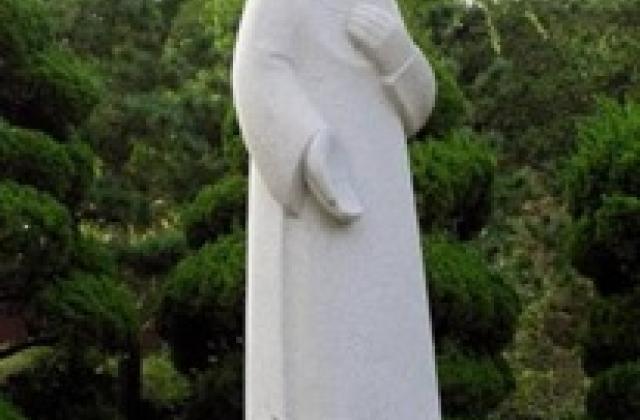 Statue of the Sacred Heart at the Catholic University, Seoul, Korea, artist unknown