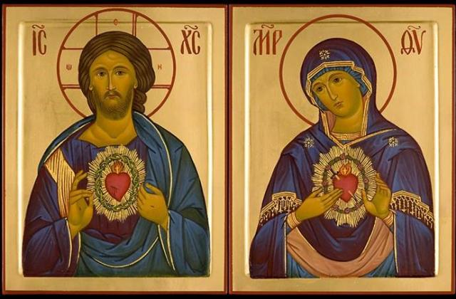 The Sacred Heart and the Immaculate Heart of Mary