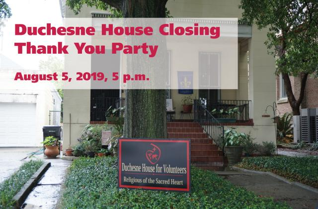 Duchesne House Closing: Thank You Party!