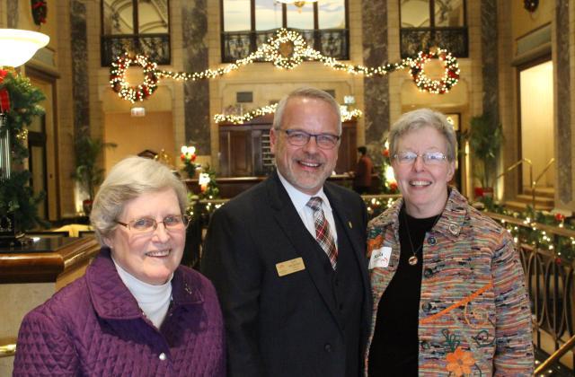 Susan Maxwell, RSCJ, Nat Wilburn, Head of Schools, and Sheila Hammond, RSCJ