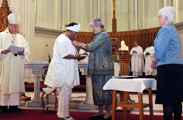 Celebration of First Vows for Uchenna Oluoha, RSCJ