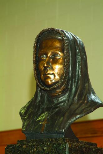 Bronze bust by Sabra Tull Meyer