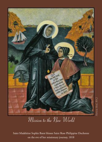 Icon by Patricia Reid, RSCJ, can be seen at Sacred Heart Schools, Sheridan Road, Chicago.