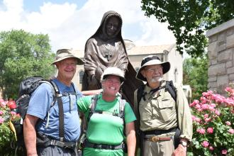 Roscoe, Ann Sieben and Jim from the 2017 pilgrimage