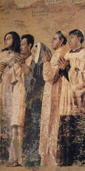 Communion of Saints, Tapestry, by John Nava, the Cathedral of Our Lady of the Angels in Los Angeles