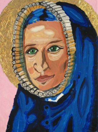 St. Rose Philippine Duchesne drawing by a student, Madeleine Kyhl, class of 2013 Sacred Heart Schools (Sheridan Road)