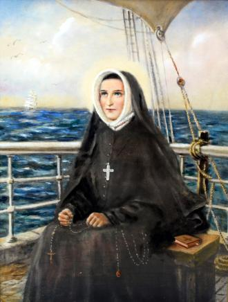 St. Rose Philippine Duchesne, Oil on Panel, by Margaret Mary Nealis, RSCJ