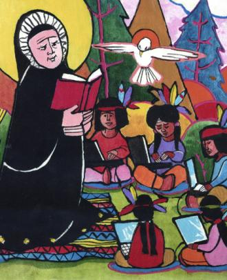 Artwork by Brother Michael O'Neill McGrath, this image appeared on the cover of America Magazine.