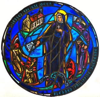 St. Rose Philippine Duchesne, Stained Glass, St. Paul Cathedral, Minn.