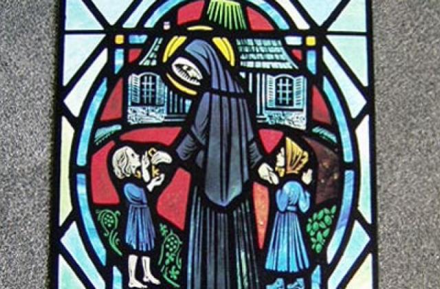 St. Philippine w/ Schoolchildren Card.